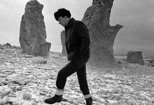 Bergman on Fårö Island in 1969. Later his retirement home.