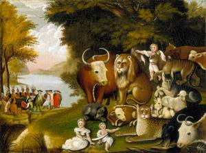 "Edward Hicks' ""Peaceable Kingdom."""