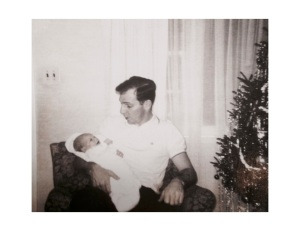 My father Hugh Bowe and me.