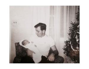 My father Hugh Bowe and me.