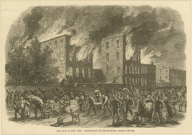 The Colored Orphan Asylum, Midtown, July 13, 1863.