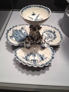 A scalloped 18th-Century pickle dish from Colonial Philadelphia, at the National Gallery.