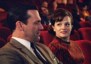Don Draper and Peggy Olson.