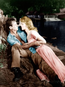 "William Holden and Kim Novak in ""Picnic."""