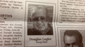 The shortest newspaper obituary on record.