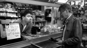 "Clerks (1994): Repeating these entrepreneurial ""loaves and fishes"" stories reinforces the idea that there's something wrong with a script if it can't be shot for next to nothing."